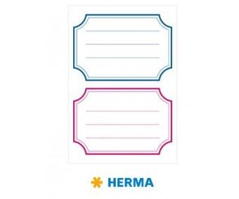 Vihikuetiketid Herma Vario - sinine/punane raam