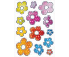 Kleepsud Decor - värvilised hõbedased lilled