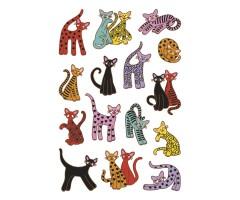 Kleepsud Decor - värvilised kassid
