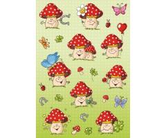 Kleepsud Decor - rõõmsad seened