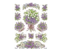 Kleepsud Decor - lilla lillekimp