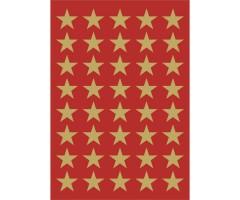 Kleepsud Decor - kuldsed tähed, 13 mm