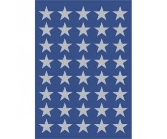 Kleepsud Decor - hõbedased tähed, 13 mm