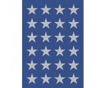 Kleepsud Decor - hõbedased tähed, 15mm