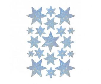 Kleepsud Decor - hologrammiga tähed, hõbe