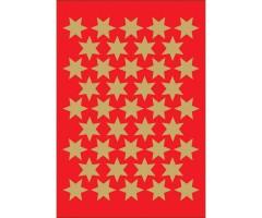 Kleepsud Decor - kuldsed tähed, 14 mm