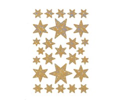 Kleepsud Decor - helkivad tähed, kuld