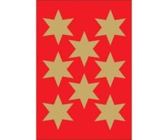 Kleepsud Decor - kuldsed tähed, 33 mm