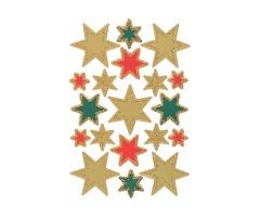 Kleepsud Decor - jõuluvärvides tähed