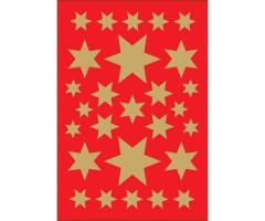 Kleepsud Decor - kuldsed tähed