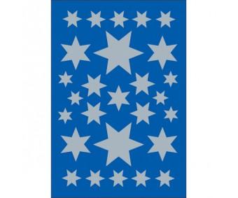 Kleepsud Decor - hõbedased tähed