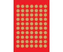 Kleepsud Decor - kuldsed tähed, 10 mm