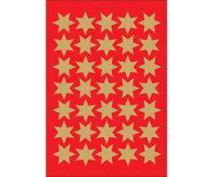 Kleepsud Decor - kuldsed tähed, 15 mm