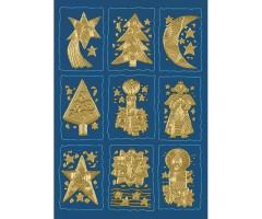 Kleepsud Decor - kuldsed jõulumotiivid