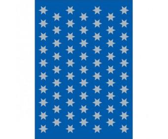 Kleepsud Decor - hõbedased tähed, 8 mm