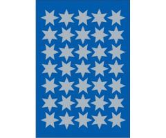 Kleepsud Decor - hõbedased tähed, 16mm