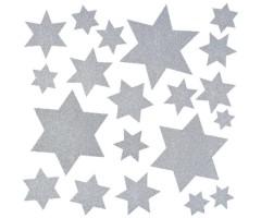 Aknakleebised Herma - hõbedased tähed