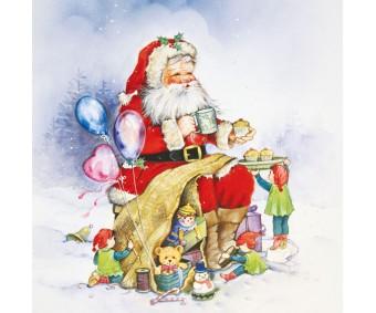 Aknakleebis Herma - jõuluvana
