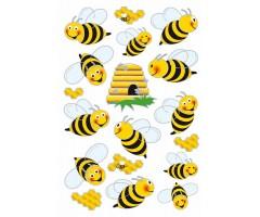 Kleepsud Magic - mesilased (3D tiibadega, läbipaistev)