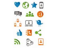 Kleepsud Magic - sotsiaalmeedia ikoonid