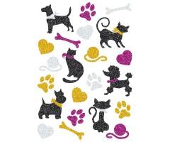 Kleepsud Magic - kassid ja koerad (sädelevad)