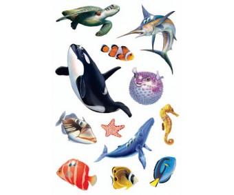 Kleepsud Magic - mereloomad (kivikestega)