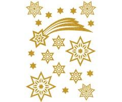 Kleepsud Magic - tähed ja komeet (glitter)