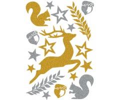 Kleepsud Magic - jõululoomad (glitter)
