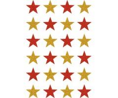 Kleepsud Magic - punased ja kuldsed tähed (glitter)