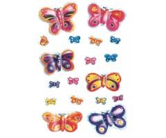 Kleepsud Magic - liblikad (3D tiibadega, läbipaistev)