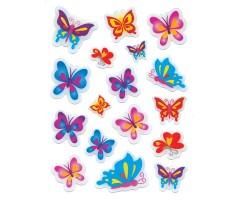 Kleepsud Magic - kirkad liblikad (kõva 3D)