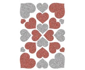 Kleepsud Magic - punased ja hõbedased südamed