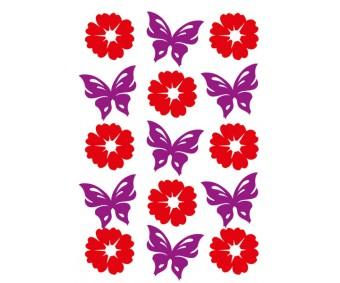 Kleepsud Magic - lilled ja liblikad
