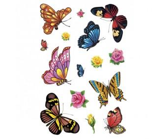Ajutised tätoveeringud Tattoo - värvilised liblikad