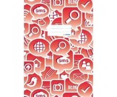 Töövihikukaaned Herma Social Icons A4 - punane
