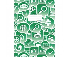 Töövihikukaaned Herma Social Icons A4 - roheline