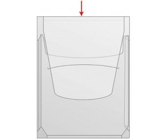 Kängurutasku klapiga A4, iseliimuv, läbipaistev