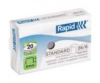 Klammerdaja klambrid Rapid Standard 26/6, 1000 tk