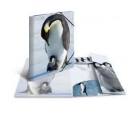 Plastikust mapp Herma A3, läikiv - pingviin