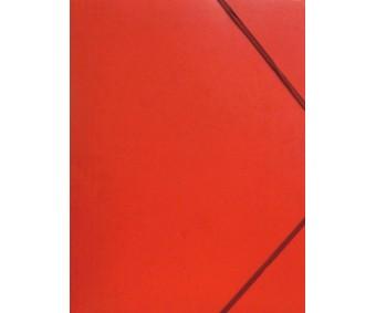 Kartongist mapp A4, nurgakummiga - punane