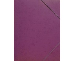 Kartongist mapp A4, nurgakummiga - lilla