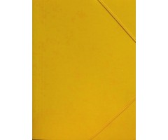Kartongist mapp A4, nurgakummiga - kollane