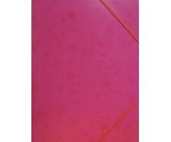 Kartongist mapp A4, nurgakummiga - roosa