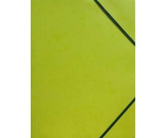 Kartongist mapp A4, nurgakummiga - laimiroheline
