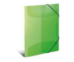 Plastikust mapp Herma A4, värviline - heleroheline