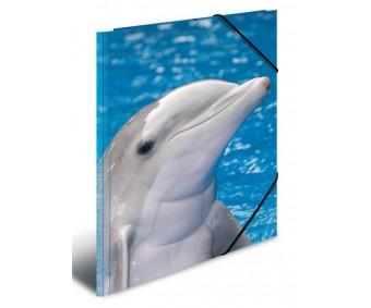 Plastikust mapp Herma A4 - delfiinid
