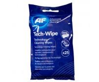 Puhastuslapid AF Tech-Wipe, 25 tk (nutiseadmetele ja sülearvutitele)
