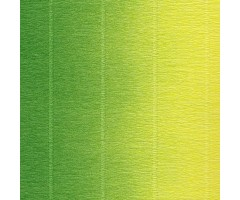 Krepp-paber Cartotecnica Rossi 2-tooniline 50x250 cm, 144g/m² - roheline-kollane