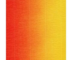 Krepp-paber Cartotecnica Rossi 2-tooniline 50x250 cm, 144g/m² - oranž-kollane