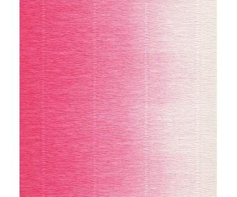 Krepp-paber Cartotecnica Rossi 2-tooniline 50x250 cm, 144g/m² - tumeroosa-valge